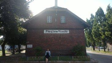 Pleszew, stary dworzec kolejowy