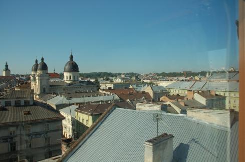 nad dachami Lwowa