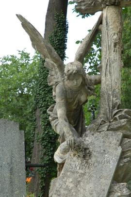 anioł na Cmentarzu Łyczakowskim