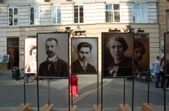 """wystawa pod chmurką """"Galicjanie sprzed 100 lat"""""""