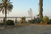Słone Jezioro w Larnace, o tej porze roku suche