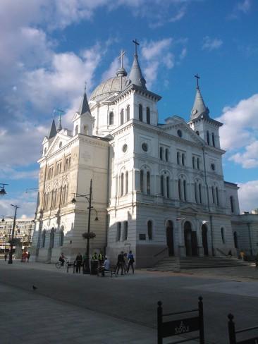 Łódź, ulica Piotrkowska, kościół pw. Zesłania Ducha Świętego