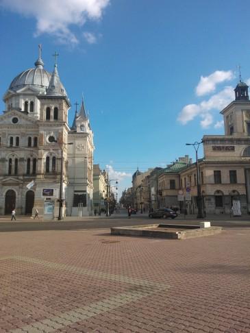 Łódź, widok na ulicę Piotrkowską