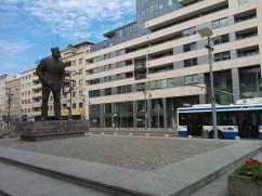 pomnik Antoniego Abrahama przy Placu Kaszubskim