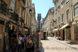 widok z  Rua de Santa Justa