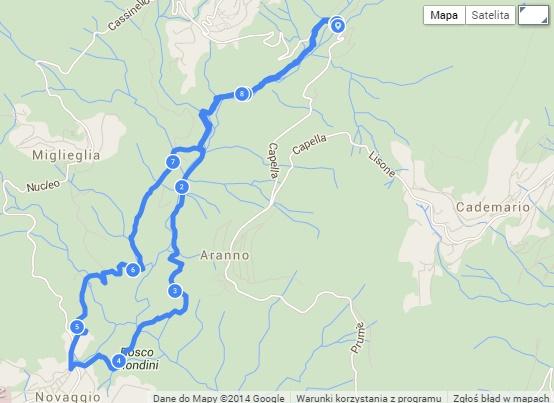Novaggio mapa